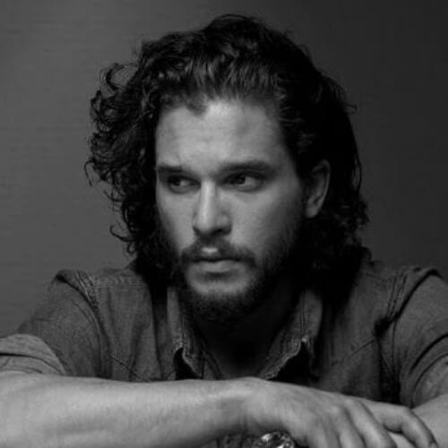 kit harrington hairstyles with beard
