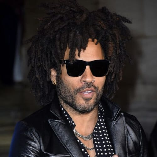 lenny kravitz hairstyles with beard
