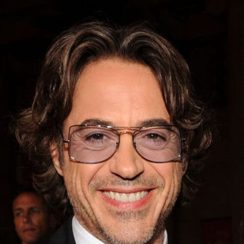 medium wavy robert downey jr haircut
