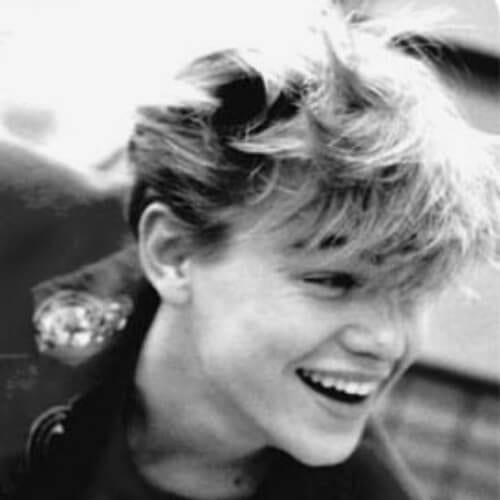 messy bangs leonardo dicaprio hairstyles