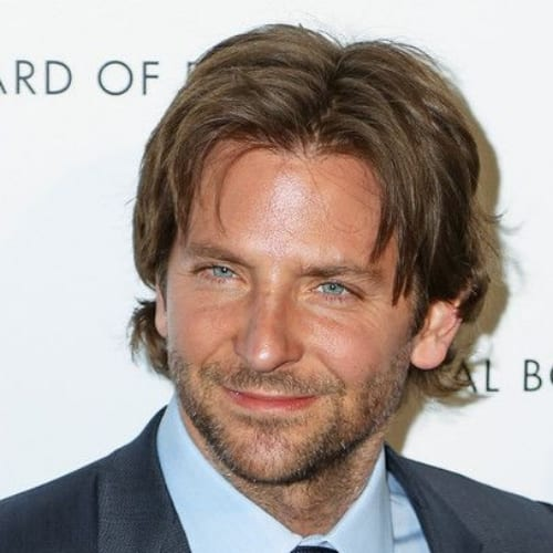 middle part bradley cooper hairstyles