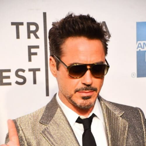 no parting robert downey jr haircut