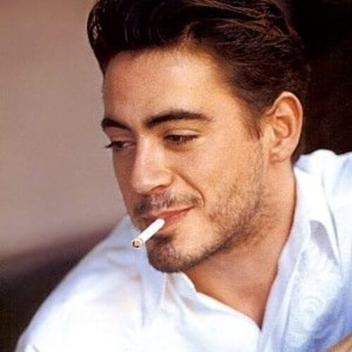 pompadour robert downey jr haircut