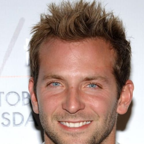 receding hairline bradley cooper hairstyles