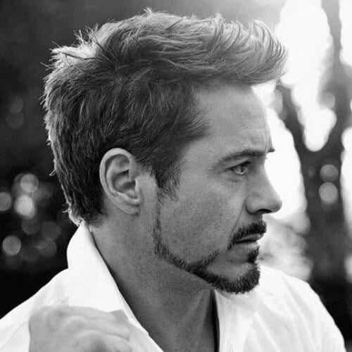 robert downey jr haircut quiff