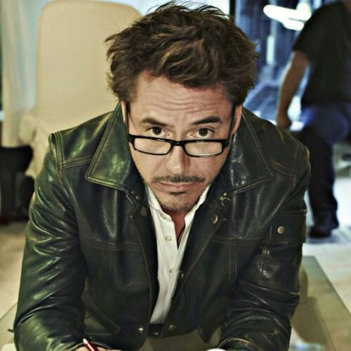 shaggy robert downey jr haircut