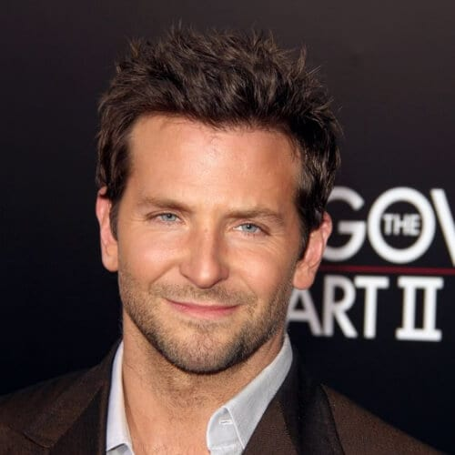 short spiky bradley cooper hairstyles