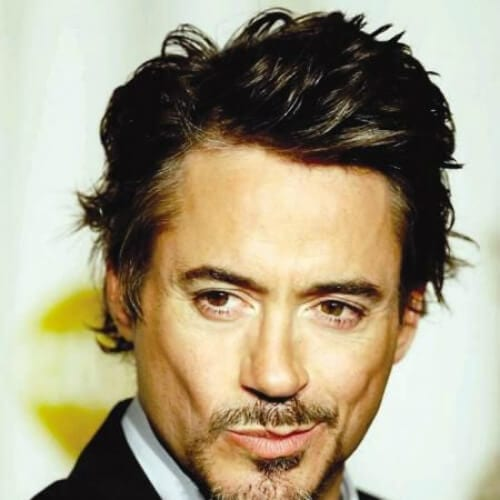 side part messy robert downey jr haircut