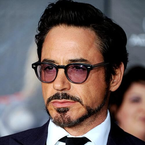 slick back robert downey jr haircut