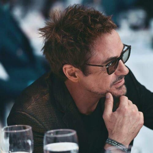 spiky robert doney jr haircut
