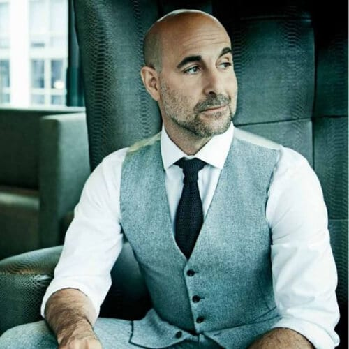 stanley tucci hairstyles with beard