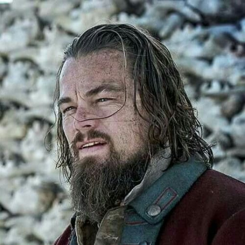 the revenant leonardo dicaprio hairstyles