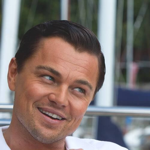 the wolf of wall street leonardo dicaprio hairstyles