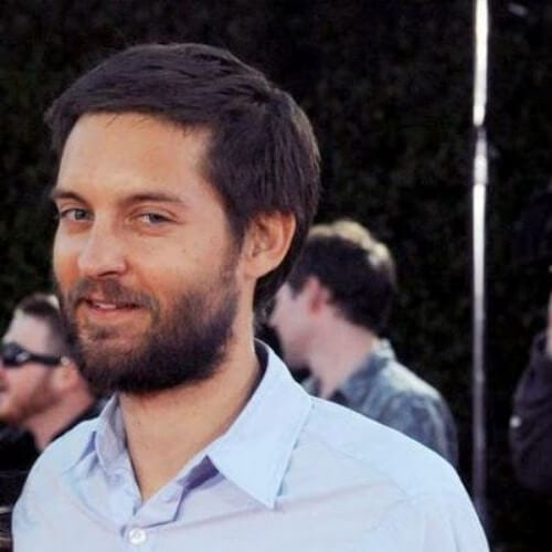 tobey maguire hairstyles with beard