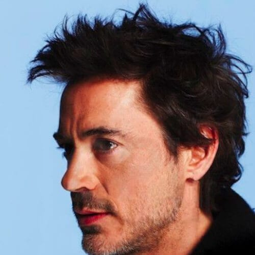 wild robert downey jr haircut