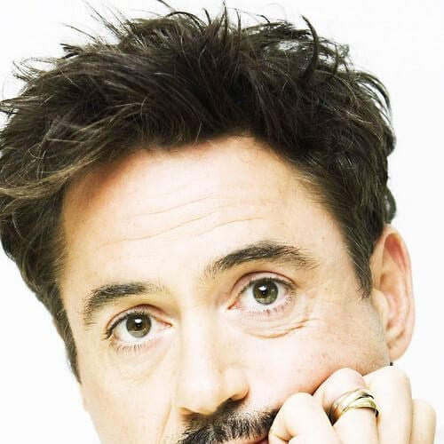 wind swept robert downey jr haircut