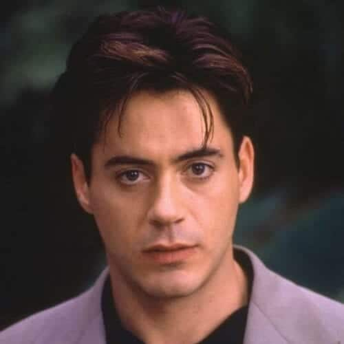 young robert downey jr haircut