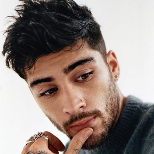 zayn malik hairstyles with beard