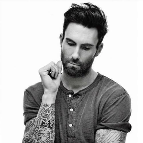 adam levine mens hairstyles for oval faces