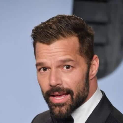 beard ricky martin haircut