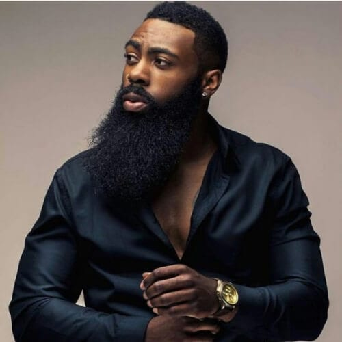 beard short haircuts for black men