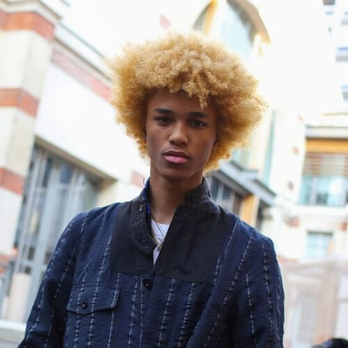 blonde afro short haircuts for black men