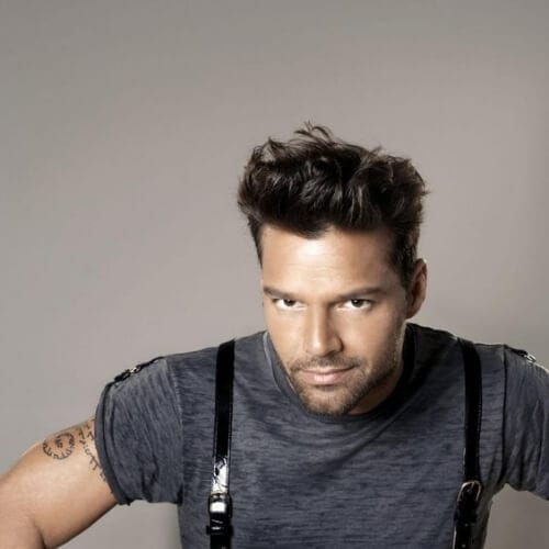 blowout ricky martin haircut