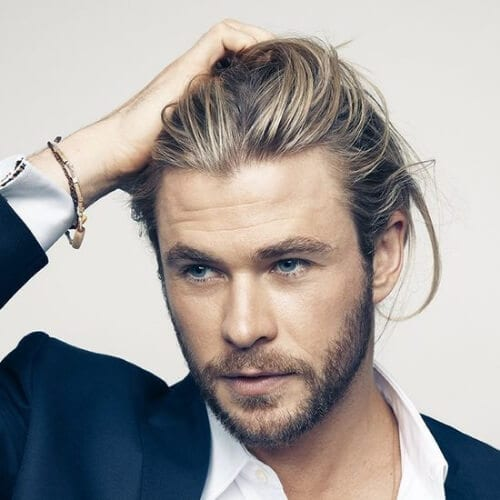 chris hemsworth mens hairstyles for oval hair