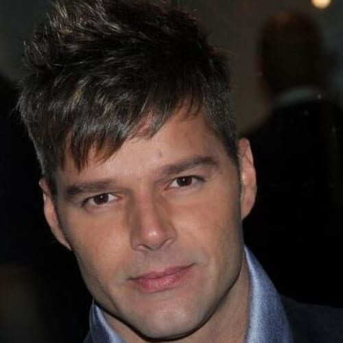 cropped bangs ricky martin haircut