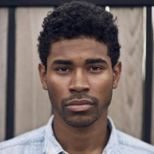 curly short haircuts for black men