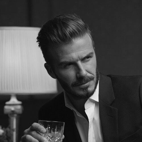 david beckham mens hairstyles for oval faces