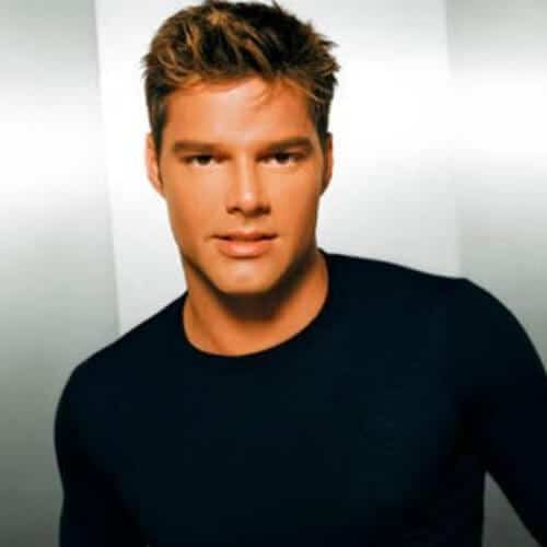 famous ricky martin haircut