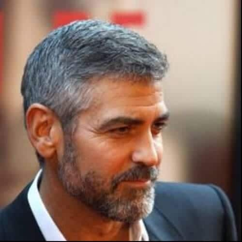 george clooney mens hairstyles for oval faces