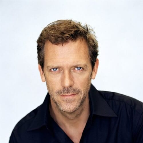hugh laurie mens hairstyles for oval faces