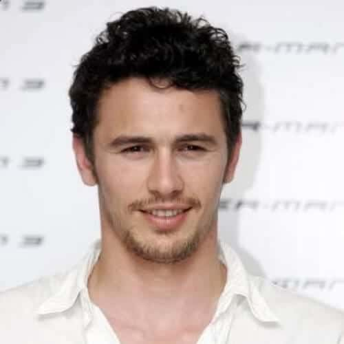 james franco mens hairstyles for oval faces