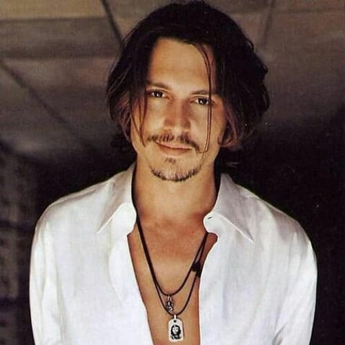 johhny depp mens hairstyles for oval faces