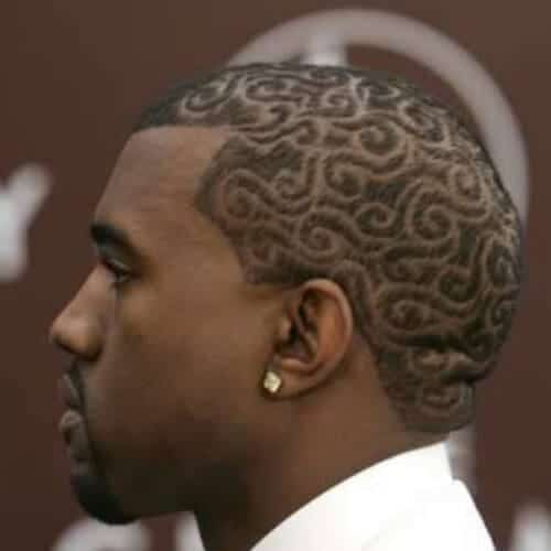 kanye short haircuts for black men
