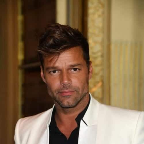 layered ricky martin haircut