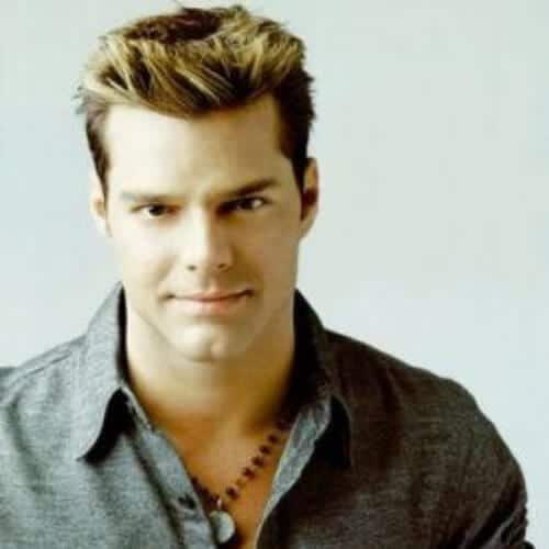 ricky martin hair style 45 handsome ricky martin haircut ideas 1808 | ricky martin haircut blonde tips