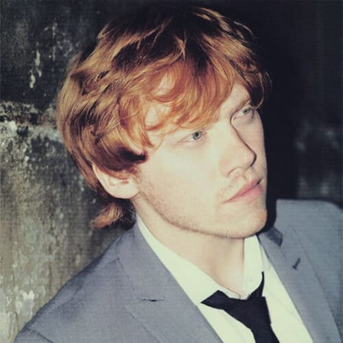 rupert grint mens hairstyles for oval faces