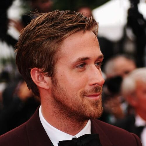 ryan gosling mens hairstyles for oval faces