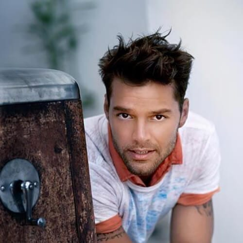 shaggy ricky martin haircut