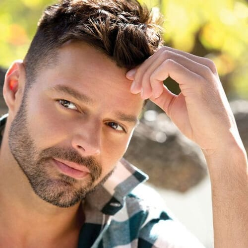 tapered sides quiff ricky martin haircut