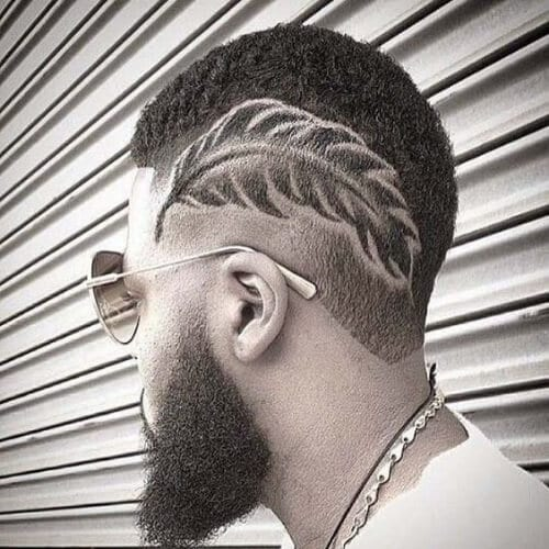 tattoo short haircuts for black men