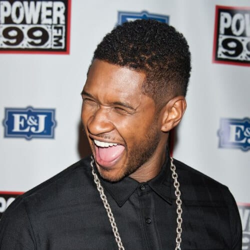 usher short haircuts for black men