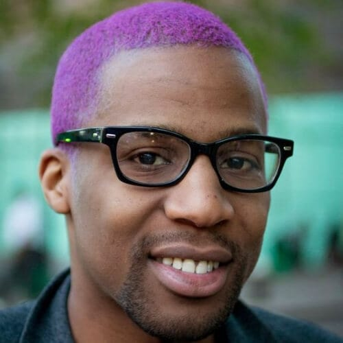 violet short haircuts for black men