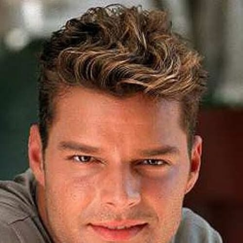wavy highlights ricky martin haircut