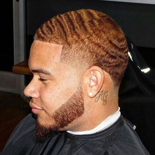 wavy short haircuts for black men