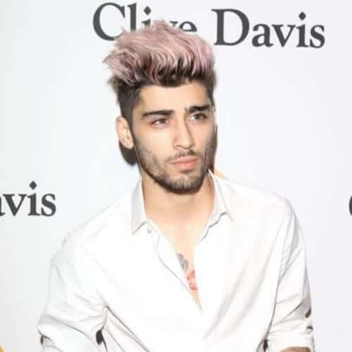 zayn malik mens hairstyles for oval faces