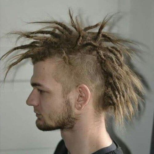 Blonde Mohawk Dreadlocks mohawk haircut